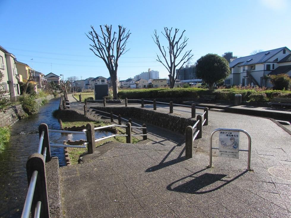 お店の裏側にも小川のお散歩コース。その日の気分でコースを選び放題☆